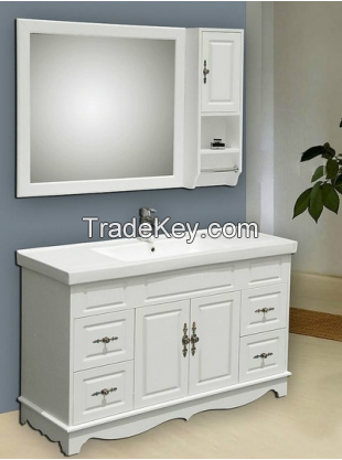 KD PVC MDF waterproof wood bathroom vanity cabinet