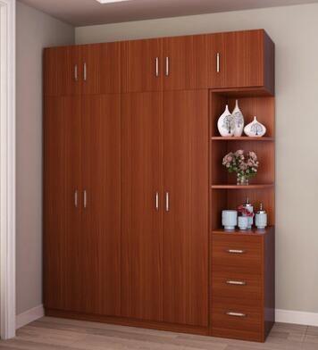 New Wooden MFC Melamine Bedroom Wardrobe