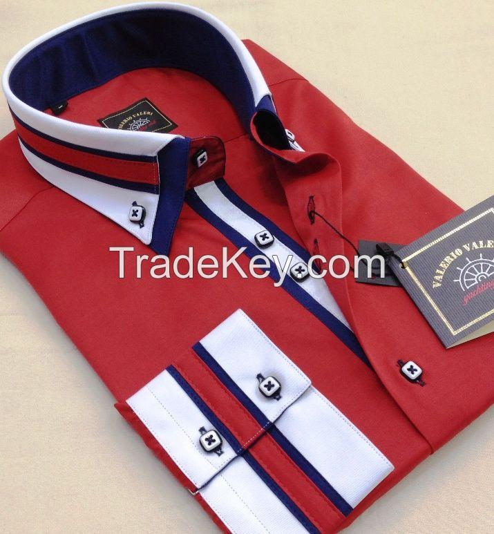 Model W1 Double collar slimfit men's shirts
