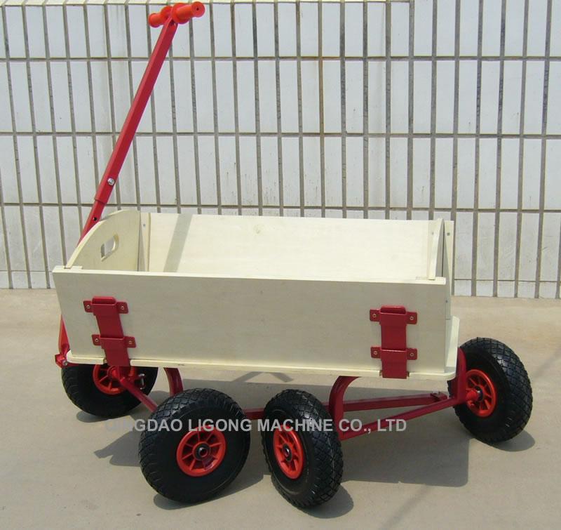 Wooden Wagon, All Terrain Wagon, Wheel Barrow, Tool Cart