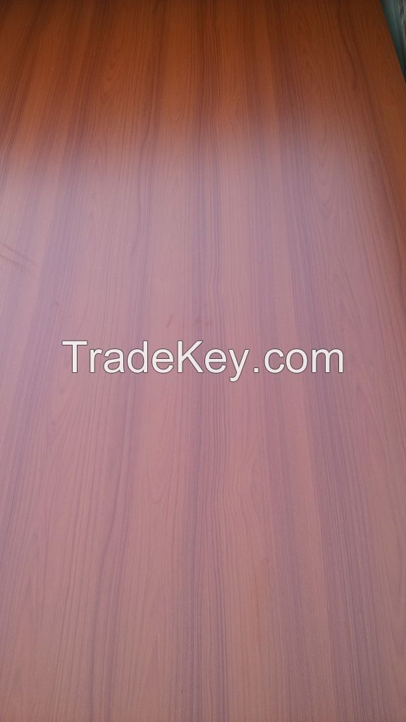 Cherry Melamine Paper Laminated MDF