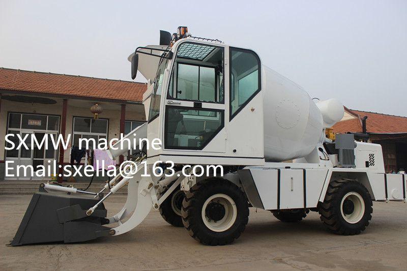 Diesel Engine Drum Mobile Concrete Mixer for self loading mobile concrete mixer