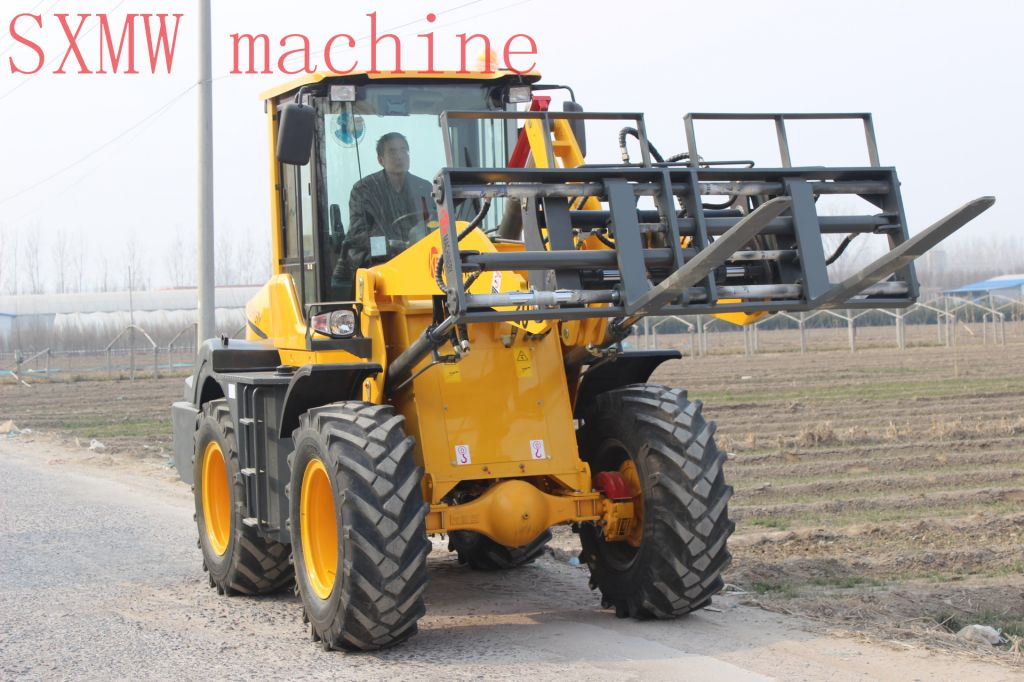 CHINA SXMW MACHINE compact wheel loader with 4 in 1 bucket