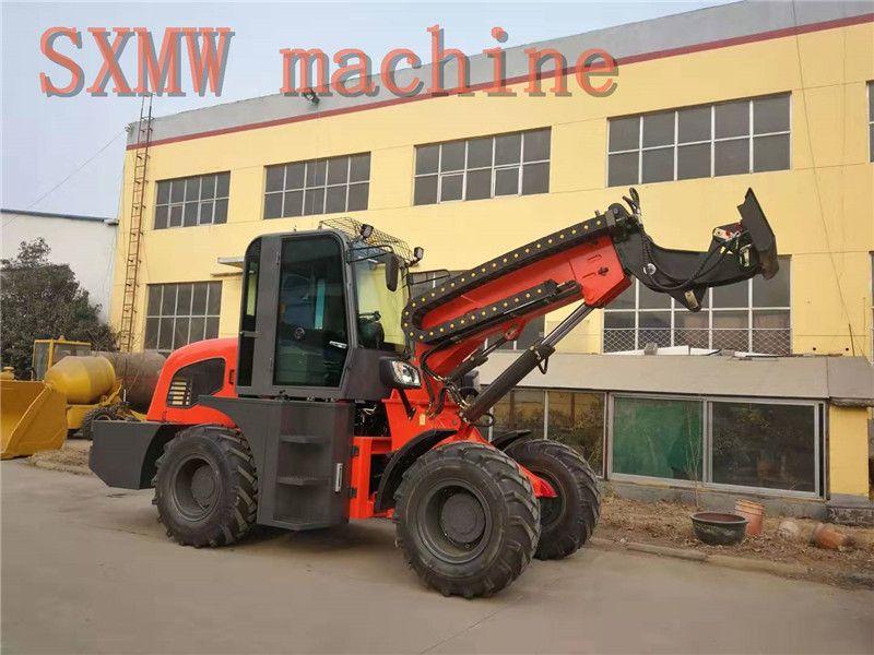 SXMW machine high dumping loader 4.5m SXMW2500 telescopic boom loader for sale
