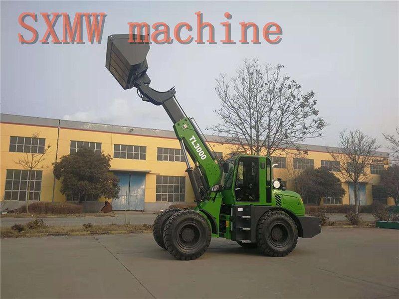 SXMW machine high dumping loader 4.5m SXMW3000 telescopic boom loader for sale