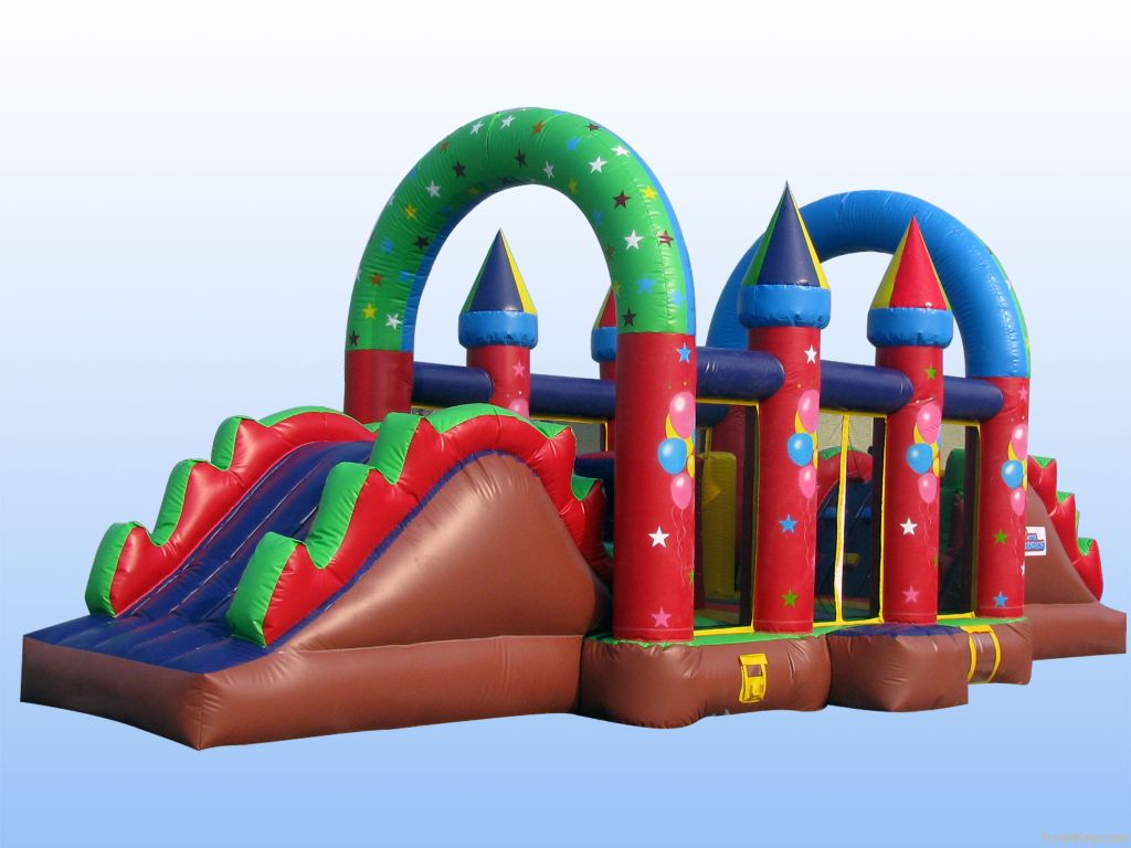 Inflatable obstacle castle