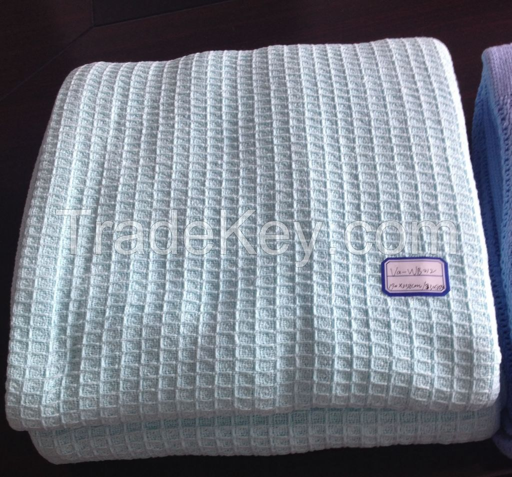100% Cotton Hospital Thermal Blankets, Waffle blankets, Leno Blankets, Cellular Baby Blankets