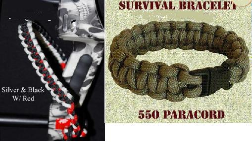 Paracord Accessories, Bracelets, Bow Slings, Rifle Slings, Dog Collars