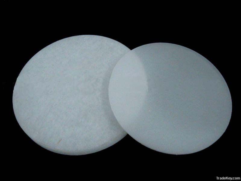 milky white quartz glass disc