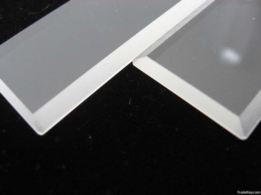 square clear quartz plate