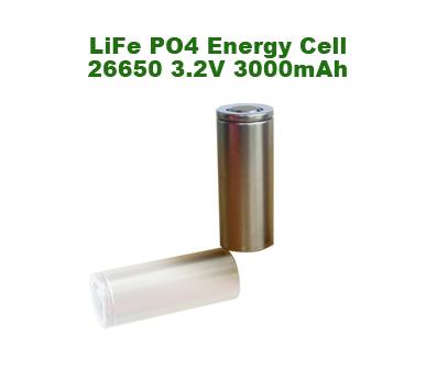 Lifepo4 Lithium Battery (26650 & 3000mah)
