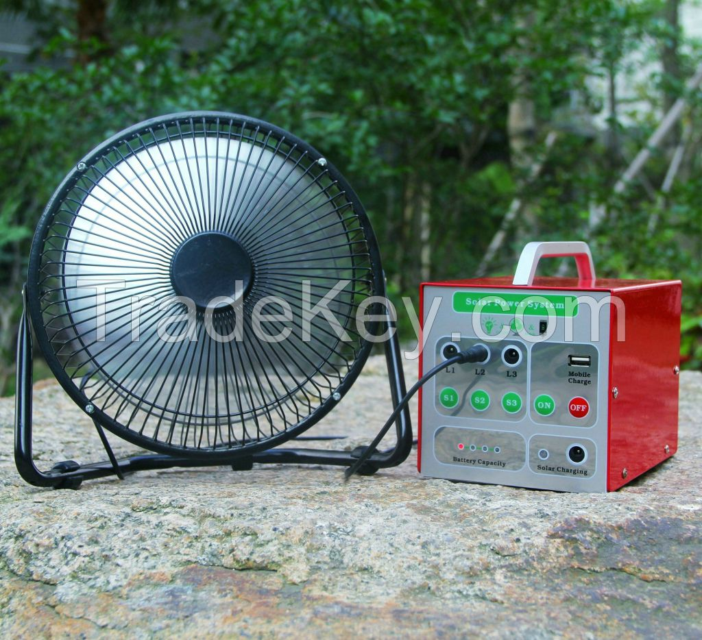 10W Portable Solar Powered Lighting System with 3W LED Light