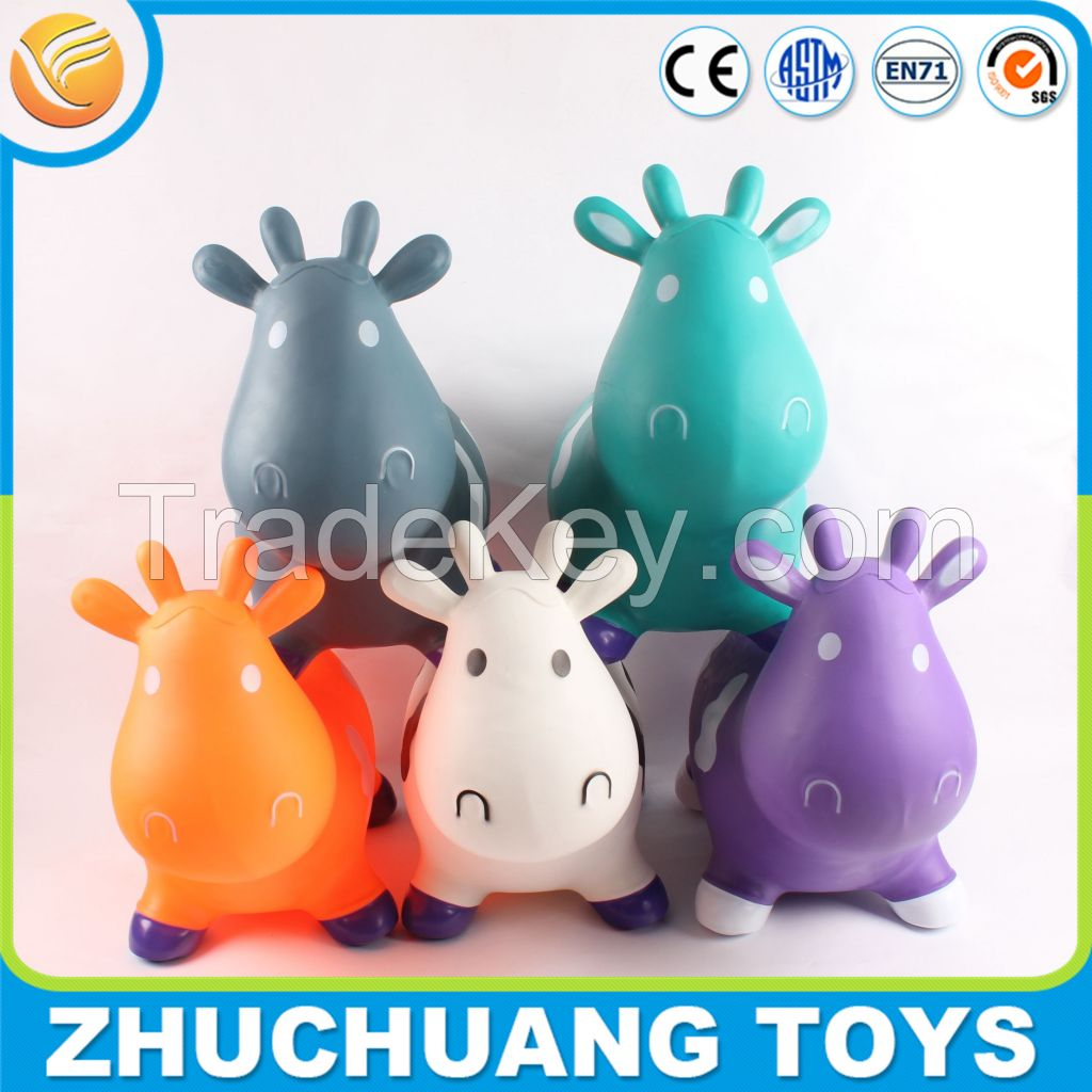 professional manufacturer for cheap pvc milk cow jumping toy inflatable animal