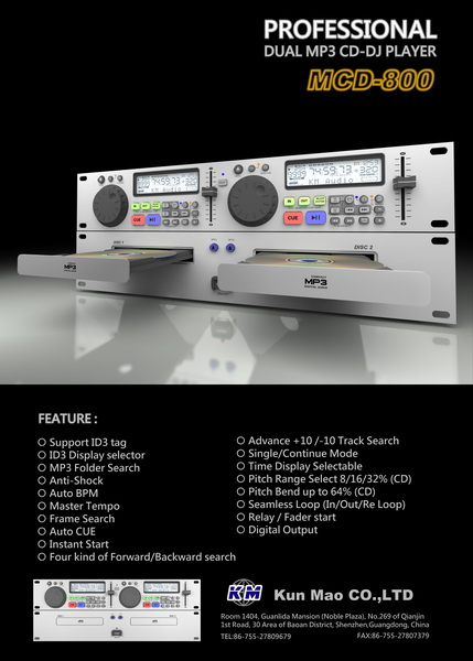 Professional  MP3 CD-DJ Player