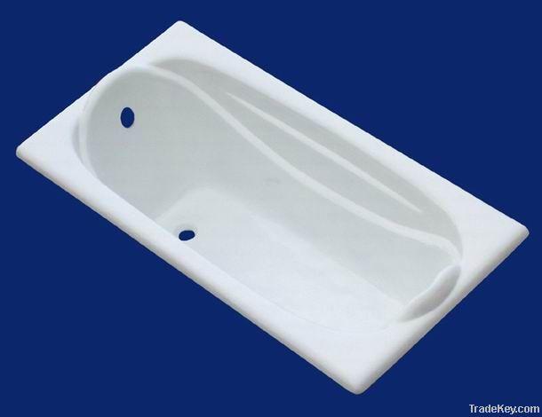 Cast iron built-in bathtub
