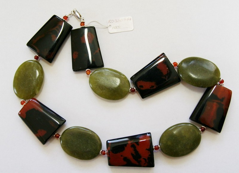 agat, marble necklace
