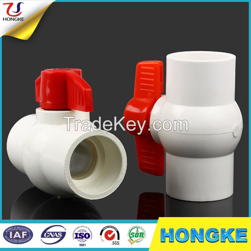 Compact plastic pvc ball valve to India
