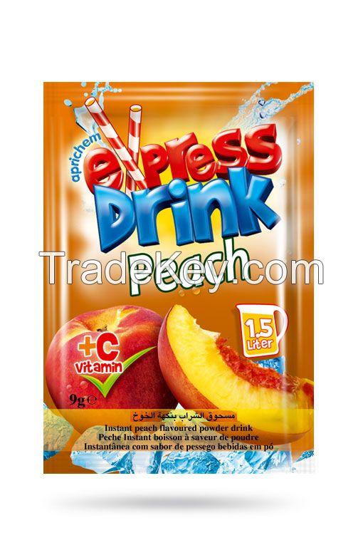 Peach instant powder drink