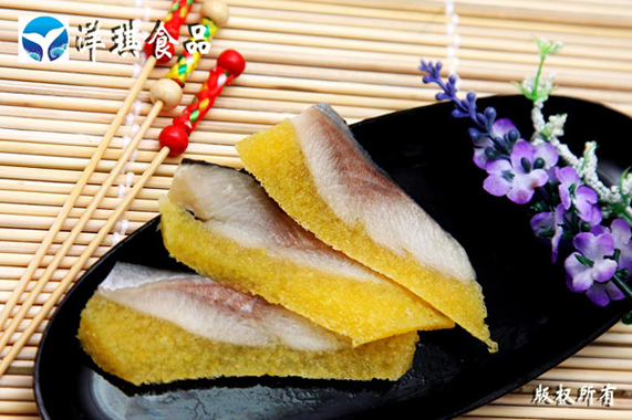 seasoned herring with capelin roe