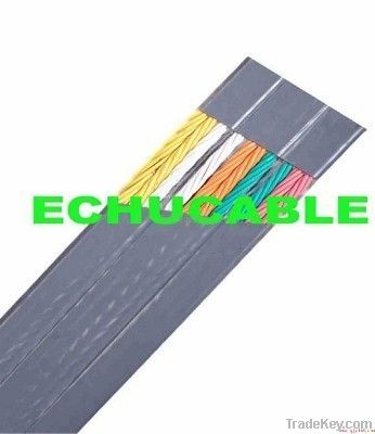 PVC flat flexible elevator cable, elevator parts-cable