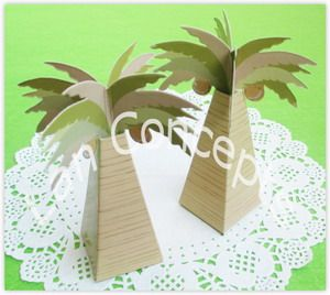 DIY Folding Party Favor Box Wedding Pillow Paper Candy Packaging