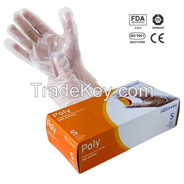 HDPE/LDPE Disposable PE Glove