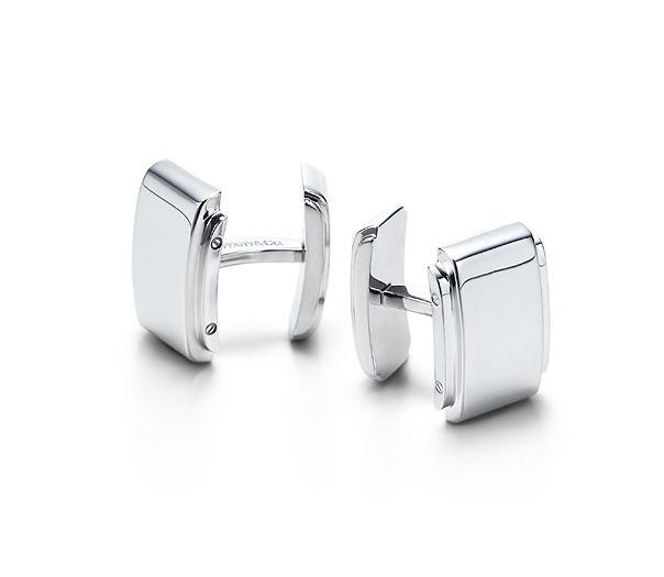 silver cuff-link