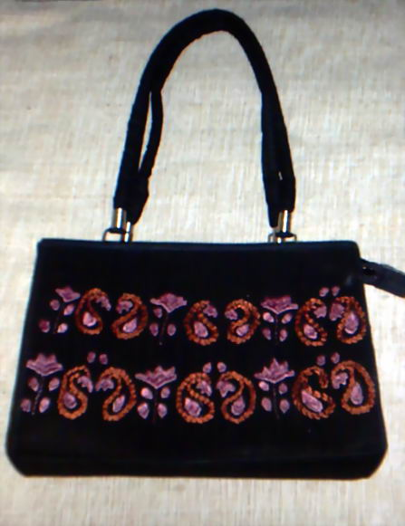 Hand Made Embroidery Cotton Ladies Bag