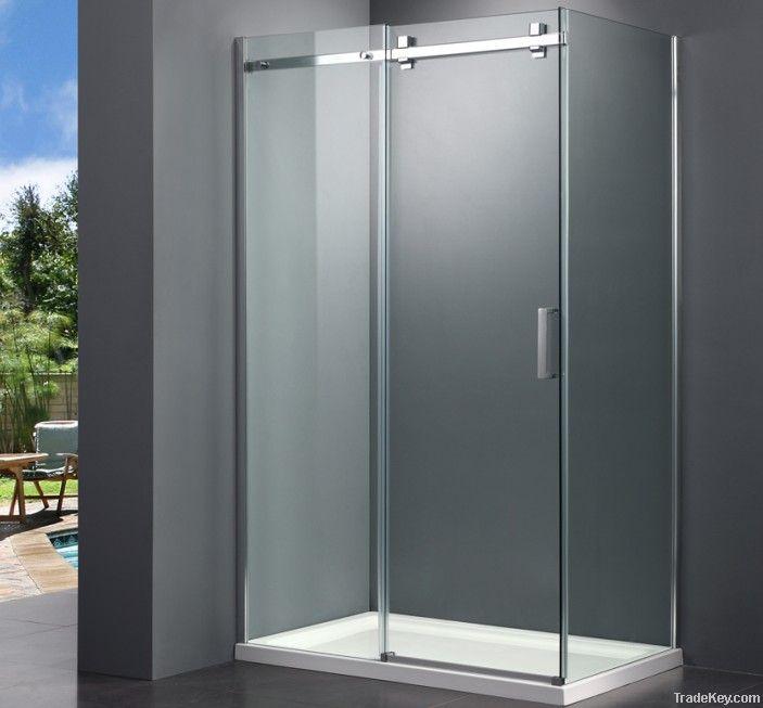 New design frameless sliding shower enclosure