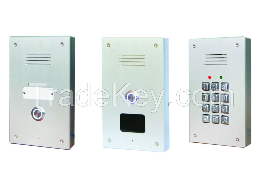 Telephone line door entry system