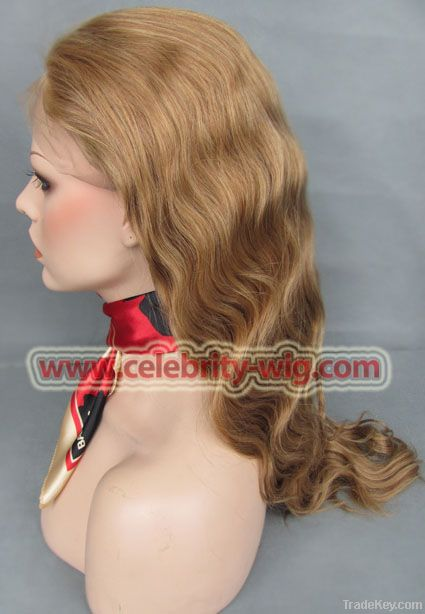 100%human hair full lace wig Body wave 20inch