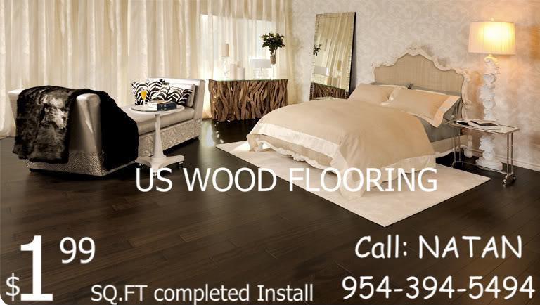 Laminate Wood Flooring 8.3mm $1.99/sf Fully Installed