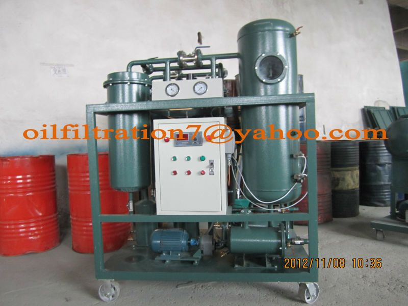Turbine Lube Oil Filtration Machine, Oil Demulsification,Oil Fluids Seperator