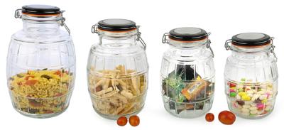 Glass Cannister Jar set