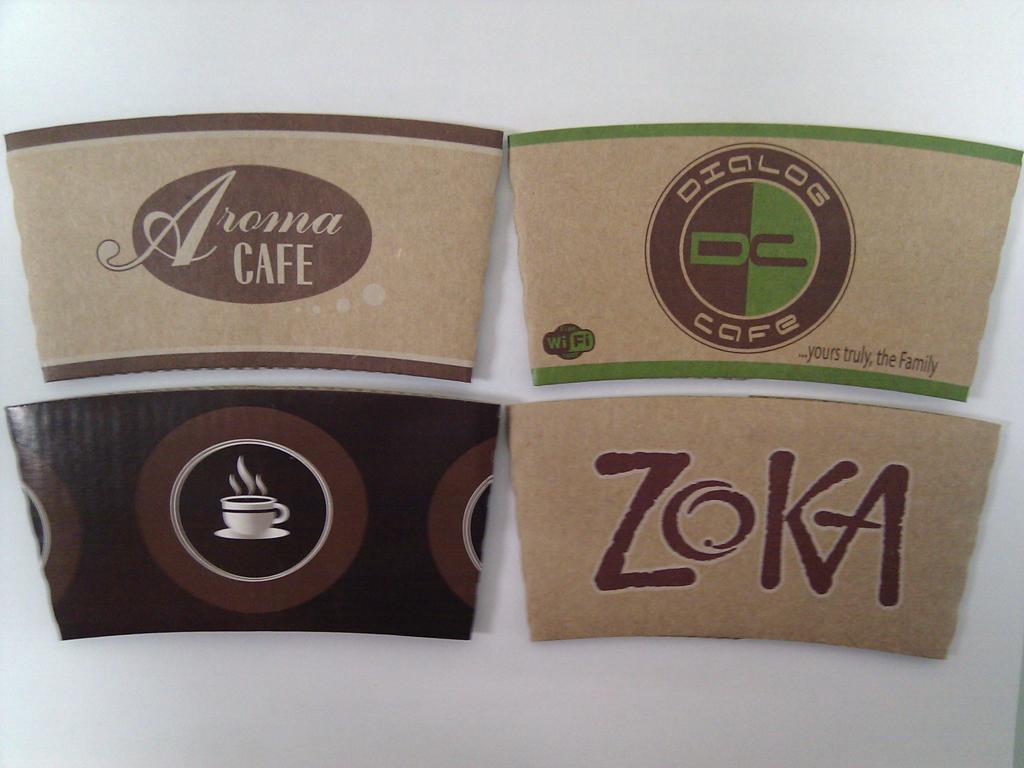 Custom Printed Coffee Sleeves