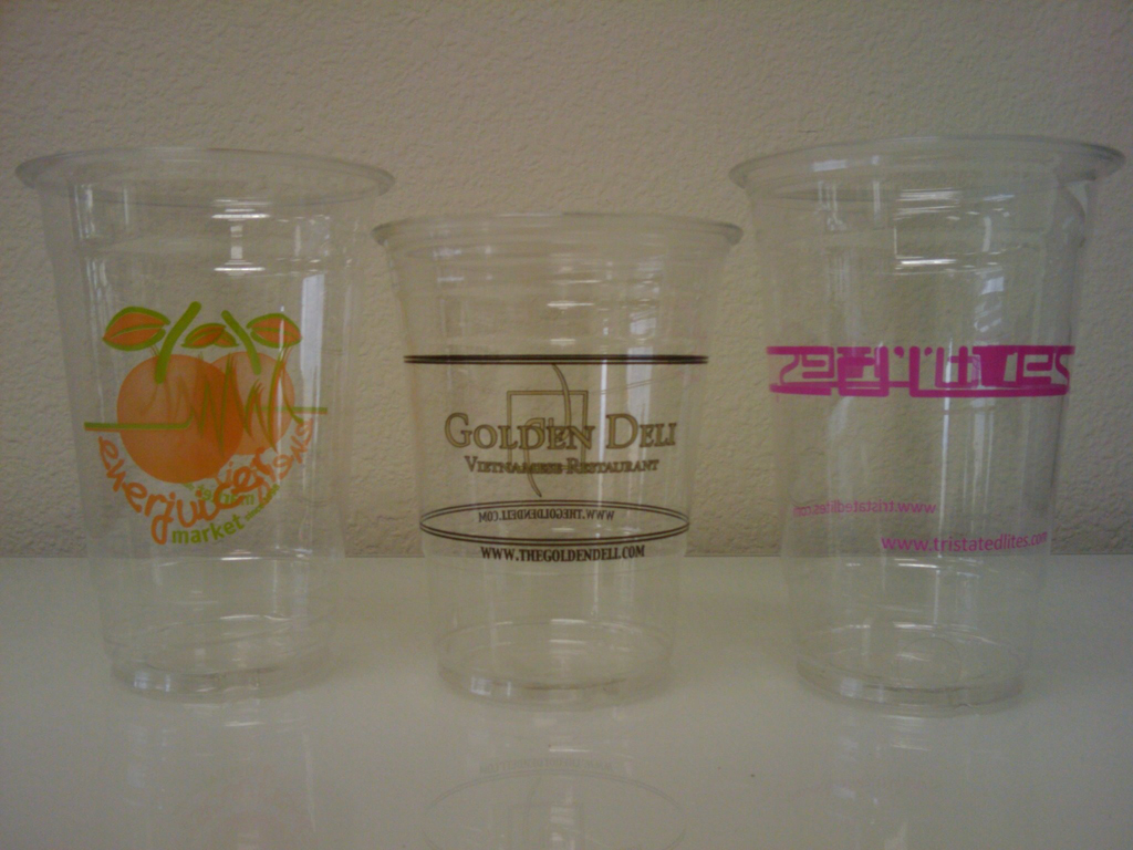 Custom Printed Plastic PET Cups