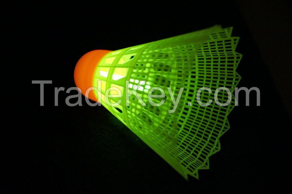 LED Glowing In The Dark Badminton Birdies