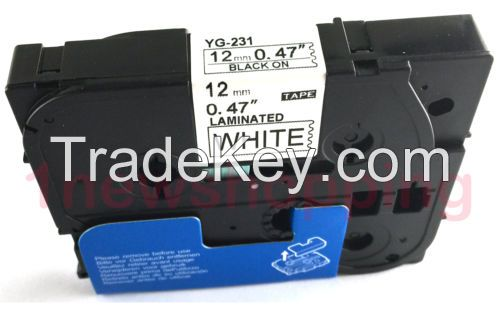 Quality Compatible For Brother P-Touch Laminated Tze Tz Label Tape Cartridge 12mm 231 631