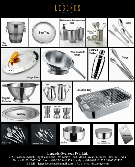 Stainless Steel (INOX) Kitchenware / Houseware