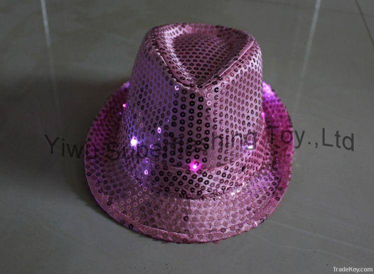 Light up Sequin Fedora hat