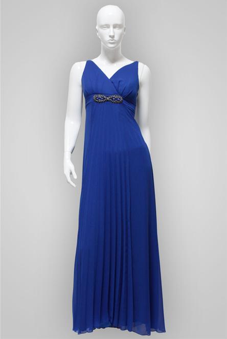 Plain Long Chiffon Dress