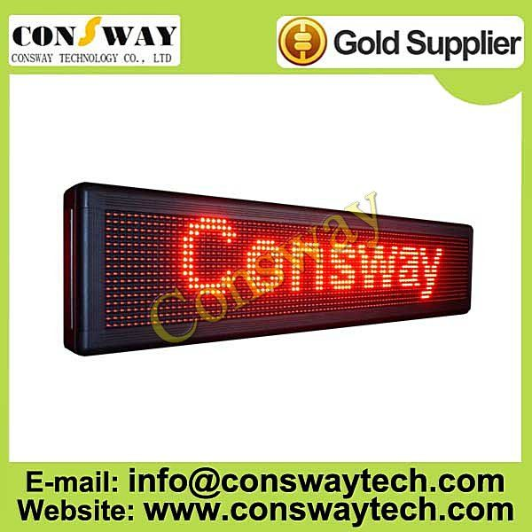 CE approved led advertising board with red color and size 104cm(W)*24cm(H)*7cm(D)