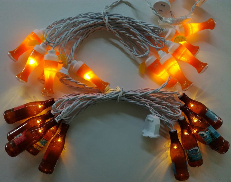 Corona Party String Lights, Miller bottle light string, Kona bottle string light