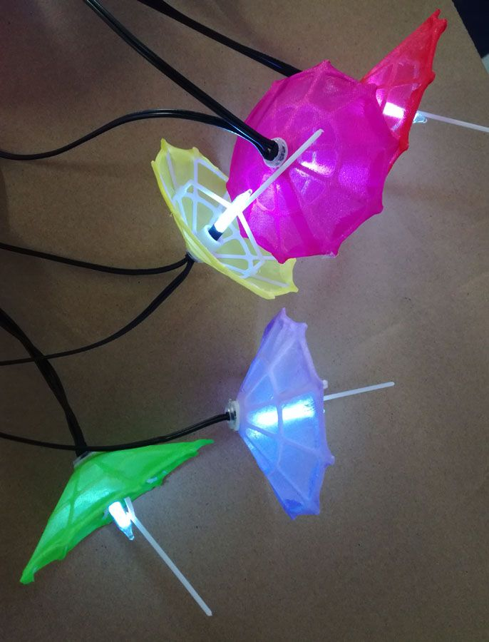 Neylon umbrella battery light string Mini Umbrella Party String Lights
