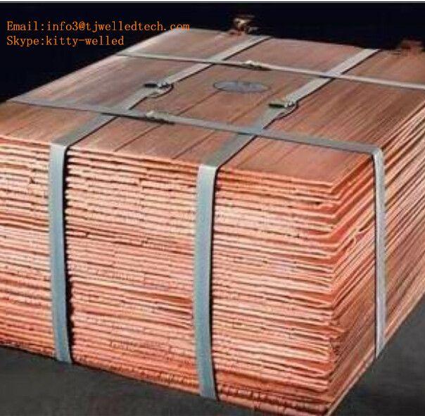 high grade 99.99% Electrolytic Copper Cathodes