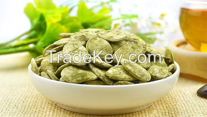 Organic Green tea Pumpkin Seeds,nuts