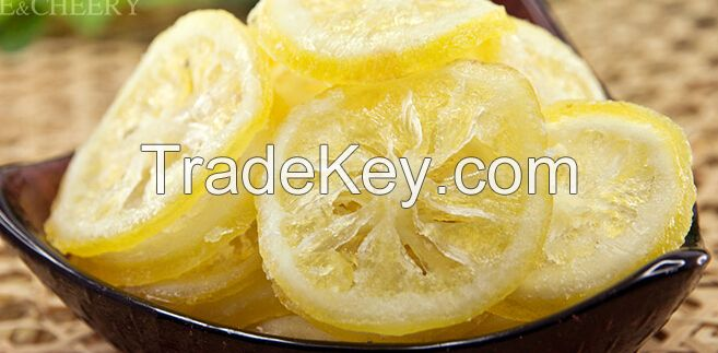 sweet delicious Preserved dried lemon fruit slices