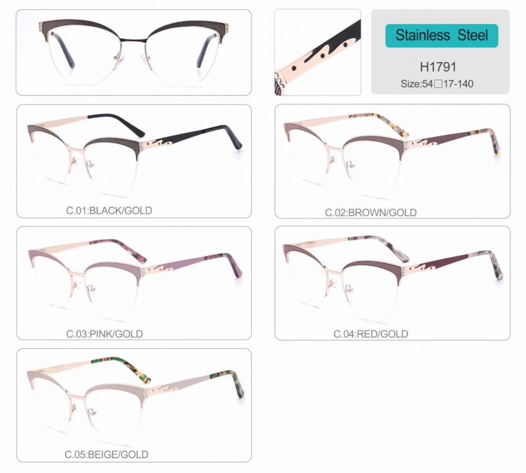 wholesale diamond optical frames eyeglasses high quality eyewear H1791