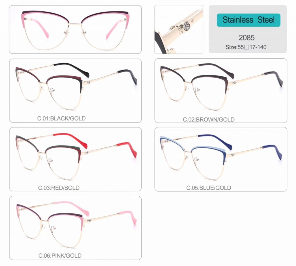 wholesale diamond optical frames eyeglasses high quality eyewear 2085