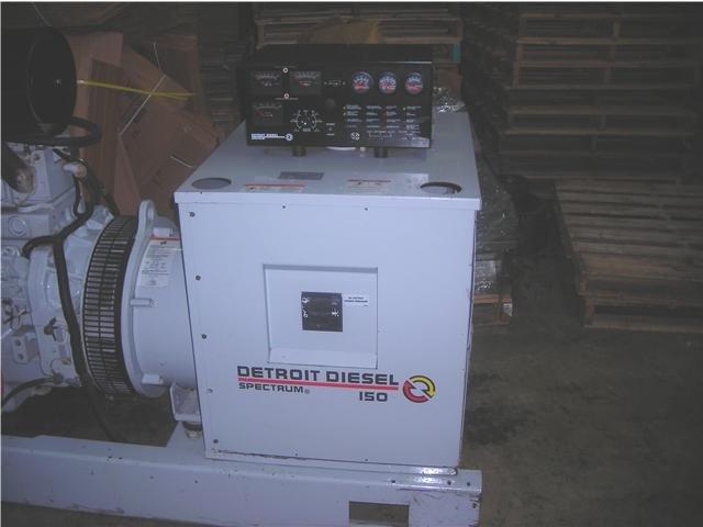 John Deere powered Detroit Diesel Spectrum 150 DSEJ Marine Generator